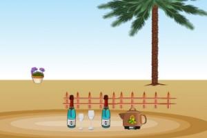 لعبة ديكور في الصحراء