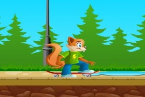 لعبة تزلج السنجاب الجديده