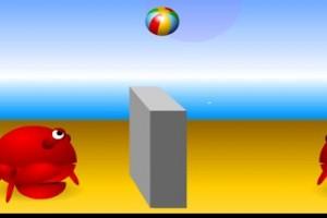 لعبة كرة طائرة الجمبري