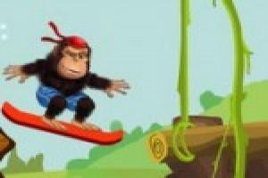 لعبة مغامرة تزلج القرد