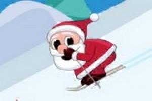لعبة مغامره بابا نويل والتزلج