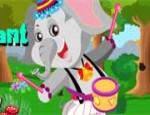 لعبة تلبيس الفيل الصغير
