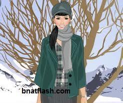 العاب تلبيس بنات ملابس الشتاء