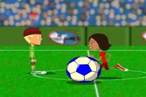 لعبة كرة قدم ثري دي