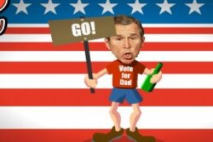 لعبة بوش المضحكه السكران