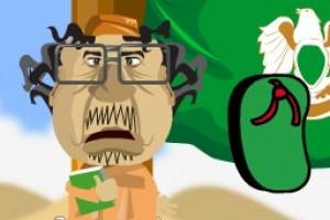 لعبة ضرب القذافي مضحكه
